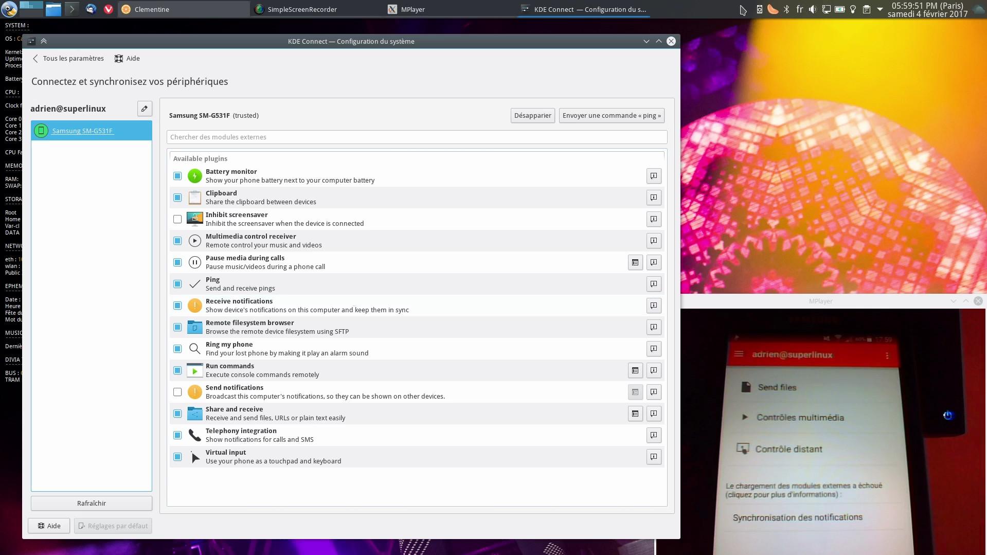 KDEConnect : Connecter son smartphone Android à KDE sous